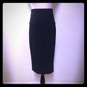 Zara Woman  Pencil Skirt Navy Blue Size Small